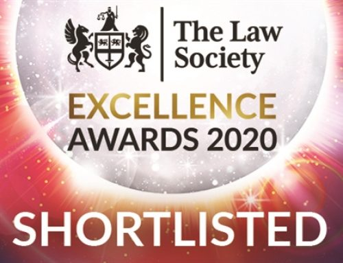 We've been short-listed for a prestigious Law Society Award