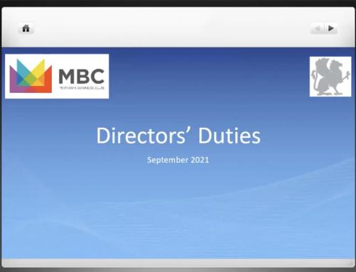 Griffin Law Hosts Director and Shareholder Duties Webinar